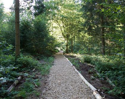 Finnenbahn Bassersdorf, Chalet Waldgarten
